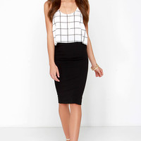 Zip to That Notion Black Pencil Skirt