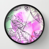 The Rose Party Wall Clock by Vikki Salmela