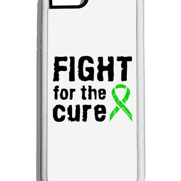 Fight for the Cure - Lime Green Ribbon Lyme Disease White Dauphin iPhone 6 Cover by TooLoud