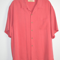 Tommy Bahama Silk Button Down Shirt Size Large Mens