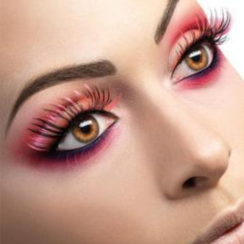 Pink and Black Eyelashes