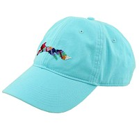 """Country Club Prep """"Longshanks"""" Needlepoint Hat in Glacier Blue by Smathers & Branson"""