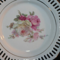 Vintage German Schwarezenhammer Rose Plate, Home Decor Plate