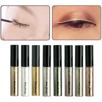 8 Colors/Set Colorful Eye Liner Shadow Sticker Eyeshadow & Eyeliner Pen Shimmer Glitter Shining Cosmetics Makeup Colors Eyeliner