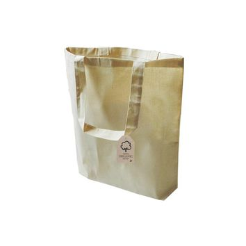Organic Cotton Canvas Tote Bag with Bottom Gusset 100% Certified - OR110