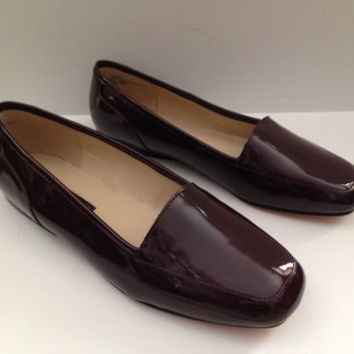"Women's Enzo Angiolini Flats ""Liberty"" - Wine Patent   Flats Shoes Wide NEW"