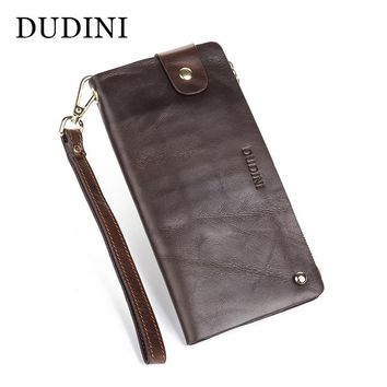 [DUDINI] New Multi-Card wallet Leather Men Wallets Holding Handbag Luxury Brand Design leisure Wallets Anti-Lost Clutch Man Bag
