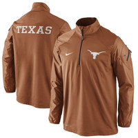 Texas Longhorns Nike Coaches Sideline Half Zip Performance Jacket – Burnt Orange