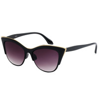Black Cat Eye Gold Sunglasses
