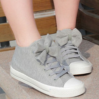 00-Bow Canvas Shoes-77-00