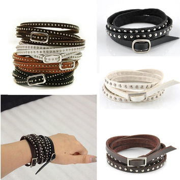 new 15% (was24) off Punk leather wristband unisex