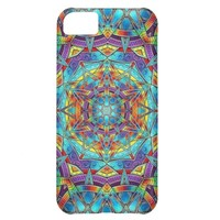 Colorful Abstract Design Rainbow Vibrant Trippy iPhone 5C Cases
