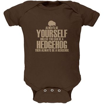 Always Be Yourself Hedgehog Soft Baby One Piece