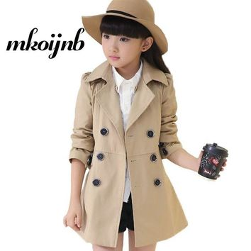 Trendy Girls Long Sleeve Jacket For 2018 Spring Autumn Fashion Girls Clothes Kids Teens Windbreaker Cotton Girls Coat 6 8 10 12 14 16 Y AT_94_13