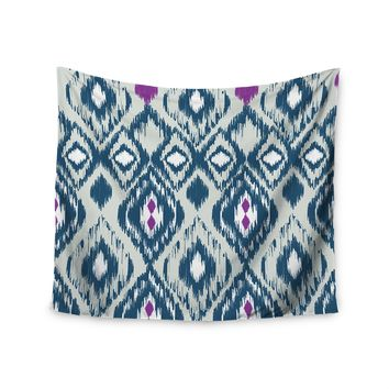 """Dat Aztec"" Blue Pink Tribal Boho Print Wall Tapestry"
