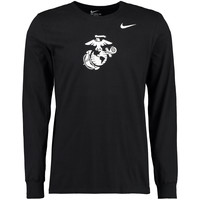 United States Marine Corps Nike Big Logo Long Sleeve T-Shirt - Black