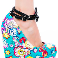 Iron Fist Over The Rainbow Wedge Aqua