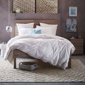 Stria Bed - Cerused White