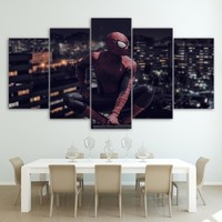 Spiderman 5 Panel Canvas For ManCave