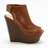 Brown Perforated Wedges