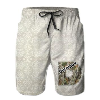 Duramax Camo Logo Mens Fashion Casual Beach Shorts
