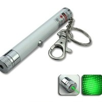Compact Laser Keychain: Green