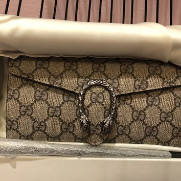 NWT Auth Gucci Made In Italy Supreme Canvas Wallet