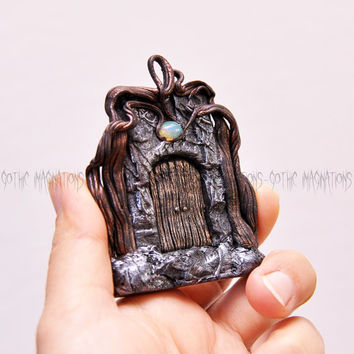 The Door in Magic, Natural Ethiopia Opal Gemstone, Hand Sculpted, Fantastic Pendant, Trendy, Amazing Pendant,Pretty, Christmas