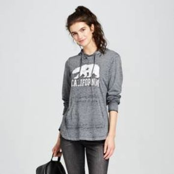 Women's California Bear Graphic Hoodie - Modern Lux (Juniors') - Charcoal