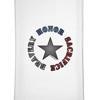 Honor Sacrifice Bravery Flour Sack Dish Towel by TooLoud