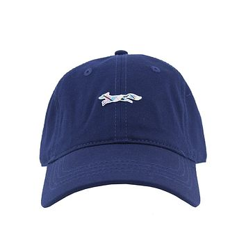 Madras Longshanks Logo Hat in Navy by Country Club Prep - FINAL SALE