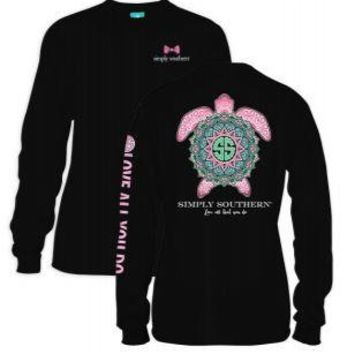 *Closeout* Simply Southern Long Sleeve Tees- BOHO TURTLE