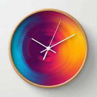 Colorful MIX Wall Clock by Msimioni