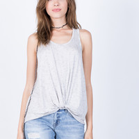 Knotted into Stripes Tank