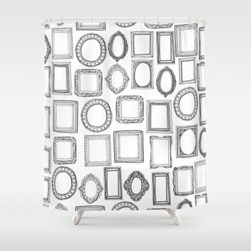 picture frames mono Shower Curtain by Sharon Turner | Society6