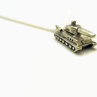 Tank Necklace Tiny Tank Necklace Tank Jewelry Military Tank Necklace Military Necklace Military Jewelry