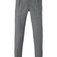 Eleventy Pinstriped Slim Fit Tailored Trousers - Equipe - Farfetch.com