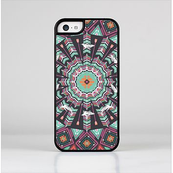 The Mirrored Coral and Colored Vector Aztec Pattern Skin-Sert Case for the Apple iPhone 5c