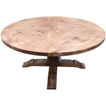 Round Fancy Farm Table with Inlay Design