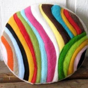 modern colorworks round by pillowhappy on Etsy