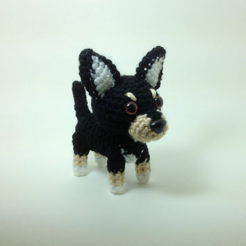 Chihuahua Amigurumi Dog Handmade Crochet Dog Stuffed by Inugurumi