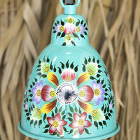 Floral Hand Painted Pendant Lamp