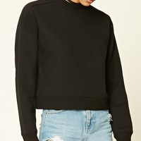Mock Neck Fleece Sweatshirt