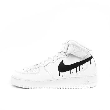 Nike Air Force 1 'DRIPPING SWOOSH' by Born Originals.