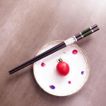 Household Tableware Sushi Chopsticks Japanese Dinnerware Chopsticks with Eco-Friendly Materials