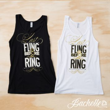 Bachelorette Party Shirts - Last Fling Before the Ring