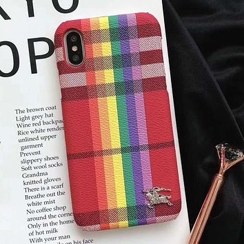 Burberry Fashion iPhone Phone Cover Case For iphone 6 6s 6plus 6s-plus 7 7plus 8 8plus X