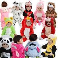 infant baby/kid/children cartoon long sleeve winter rompers, boys/girls animal coverall jumpsuits,baby wear clothes