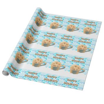 Happy Holidays Hot Cocoa Wrapping Paper