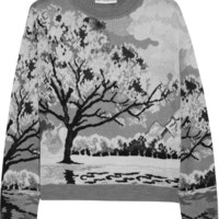 Mary Katrantzou | Landscape-intarsia knitted sweater | NET-A-PORTER.COM
